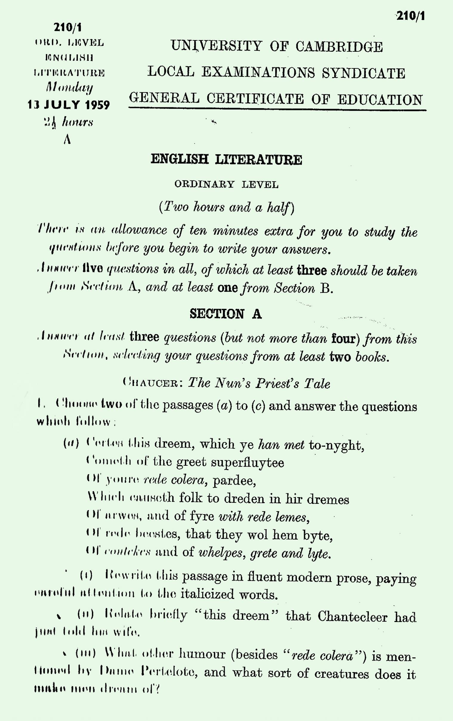 A level english lit essays?